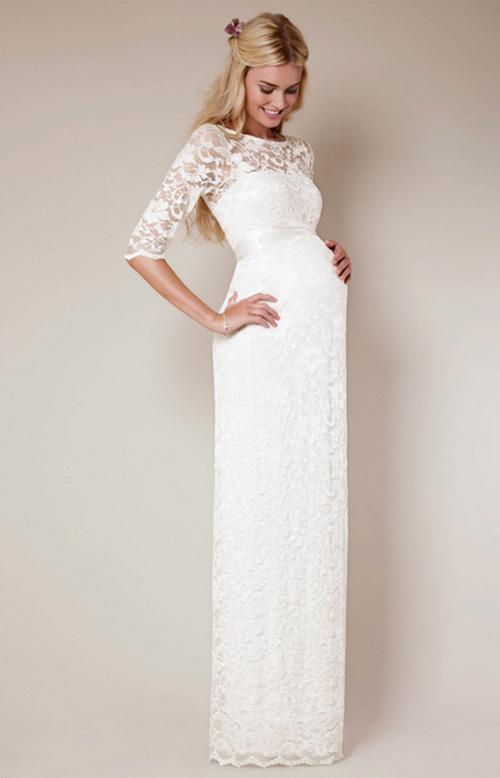 Cách chọn váy cưới cho cô dâu bầu