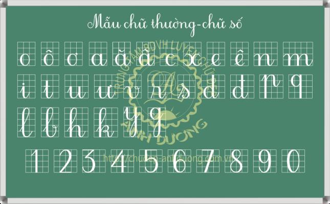Mẫu chữ thường chữ số đứng thanh đậm