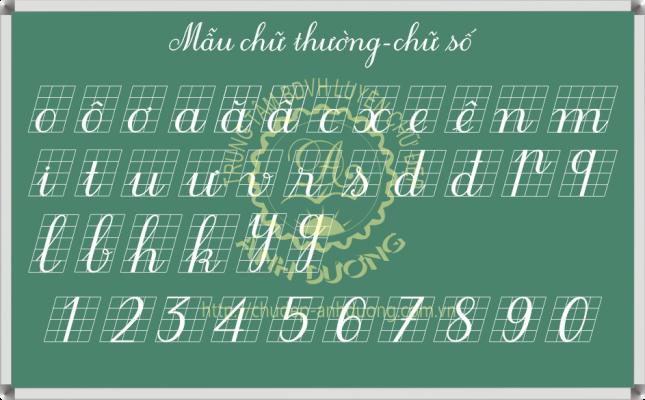 Mẫu chữ thường chữ số nghiêng thanh đậm
