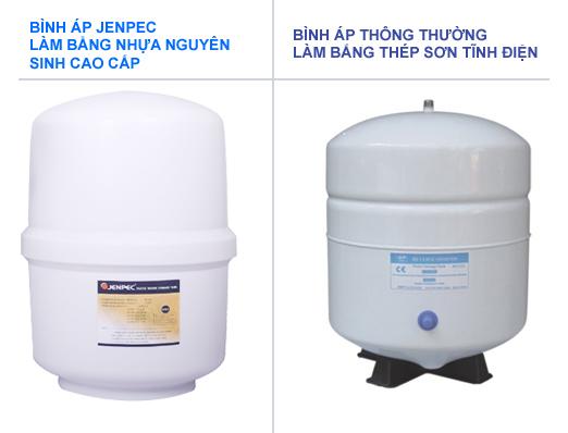 so sánh bình áp nhựa và bình áp thép