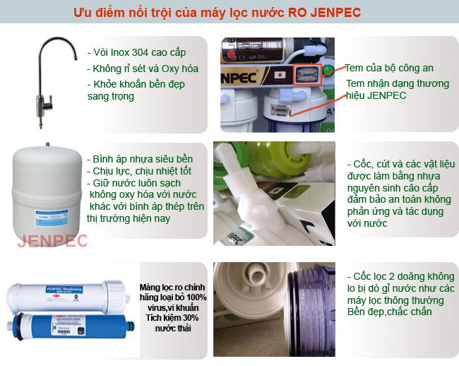 ưu điểm của máy lọc nước jenpec