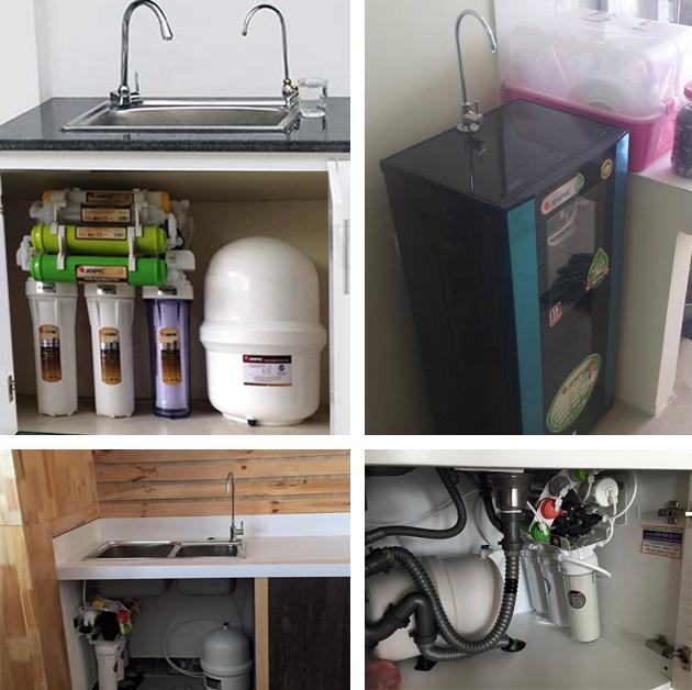 vị trí lắp đặt máy lọc nước jenpec