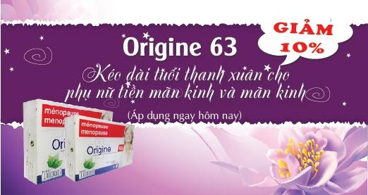 Khuyến mại Origine 63