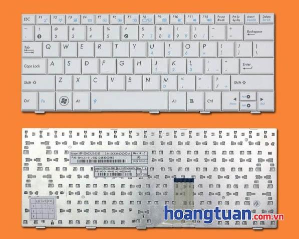 Bàn phím Asus Eee PC 1005HA trắng Keyboard