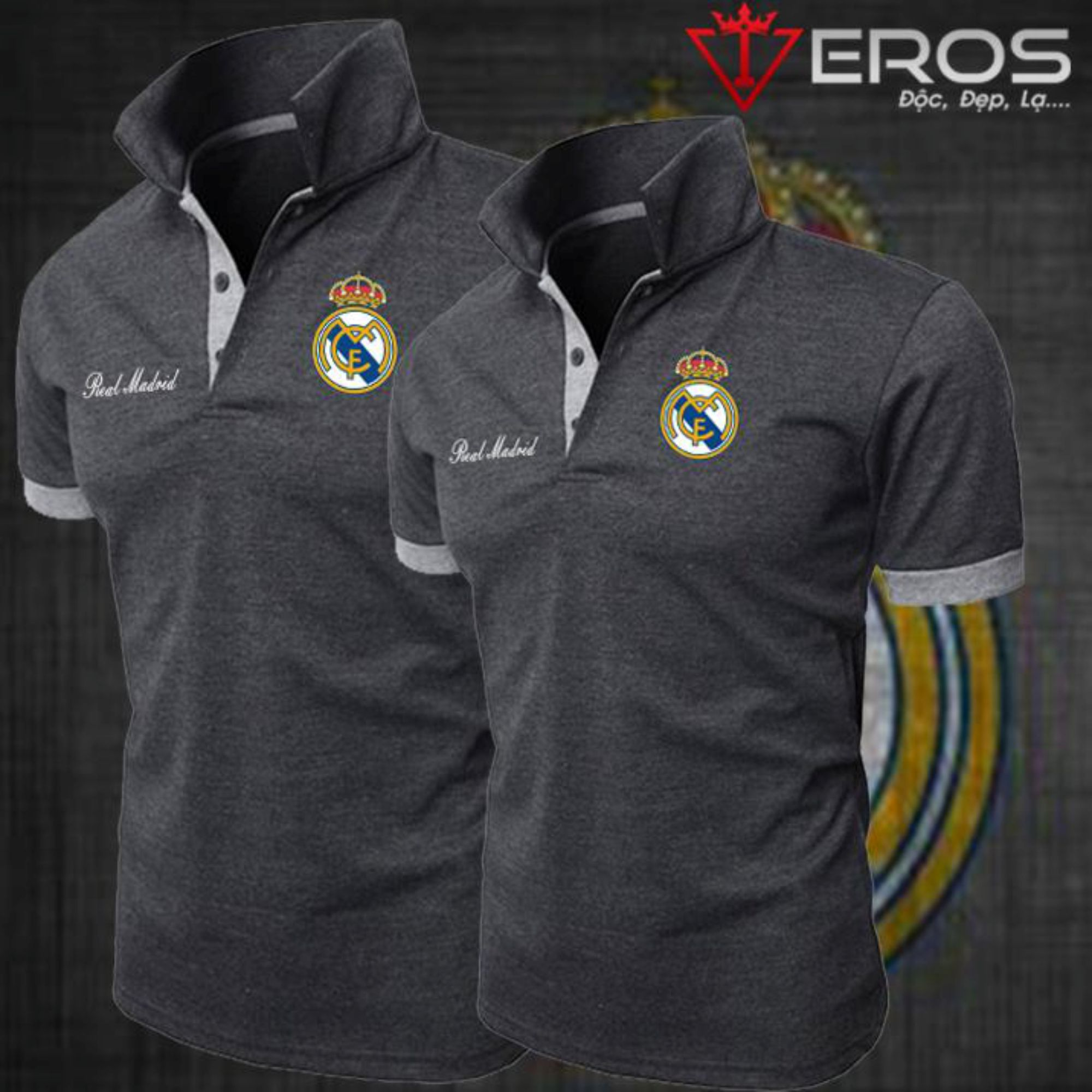 ÁO POLO REAL MADRID XÁM