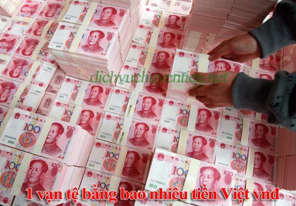 1 CNY bằng bao nhiêu tiền Việt Nam Đồng