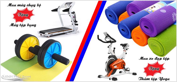 Khuyến mãi khi mua máy chạy bộ và xe đạp tập thể dục