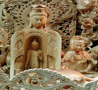 Beautiful wood carved items