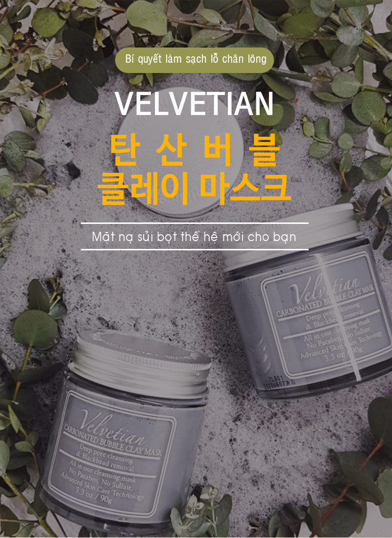 Mặt nạ sủi bọt Velvetian Carbonated Bubble Clay