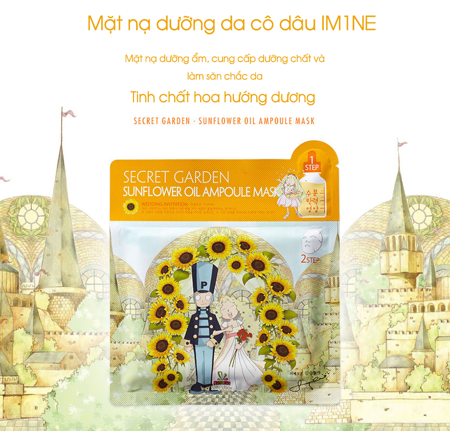 Mặt nạ IM1NE Sally's Box Secret Garden Sunflower Oil Ampoule