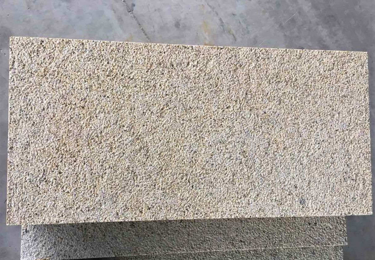 Yellow Granite Bush-Hammered 2