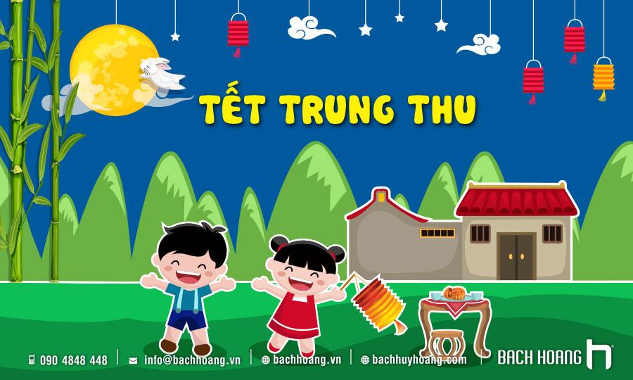Thiết Kế, In ẤnVà Thi Công Backdrop - Phông Sân Khấu TếtTrung Thu BachHoang.Vn