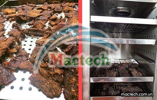 """Máy sấy thịt trâu gác bếp, làm sao để sấy được như khi """"gác bếp"""""""