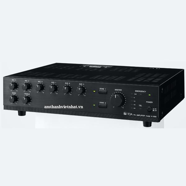 Tăng âm truyền thanh liền Mixer TOA A-1806