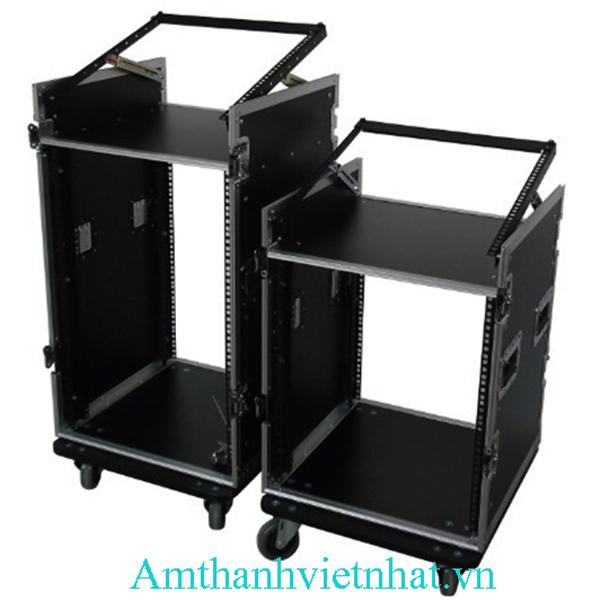 Tủ thiết bịâm thanh 10U-12U có bàn liền mixer