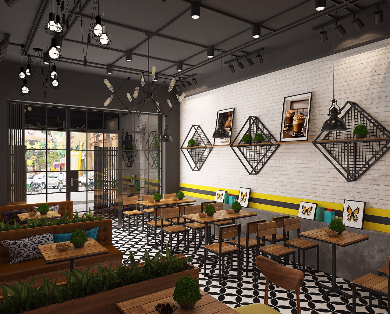 thiết kế kiến trúc nhà hàng