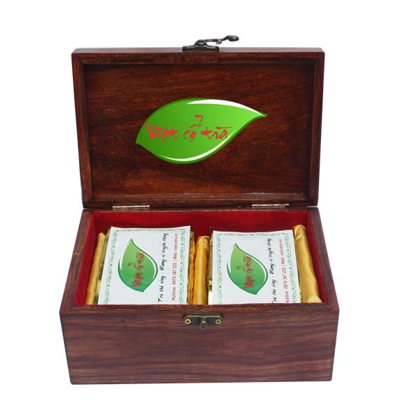 Hộp trà biếu Đinh Hương đôi