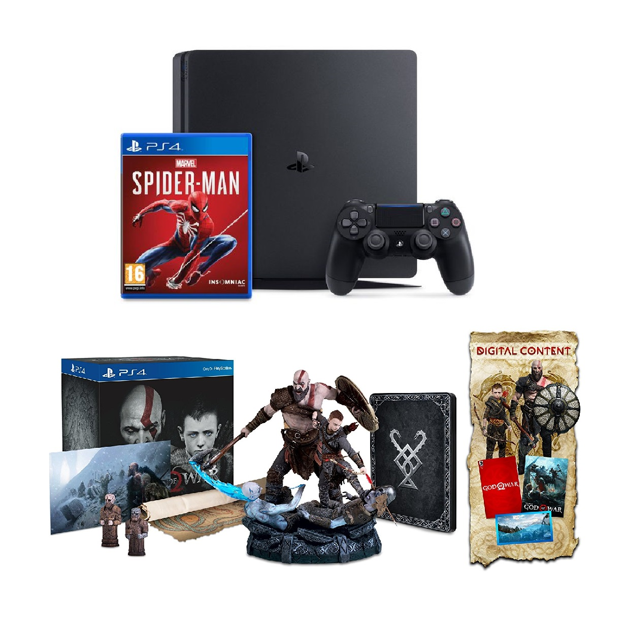 ps4-slim-500g-spider-man-bo-tuong-gow-collector-edition