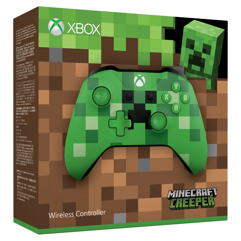 tay-xbox-one-s-khong-day-minecraft-creeper