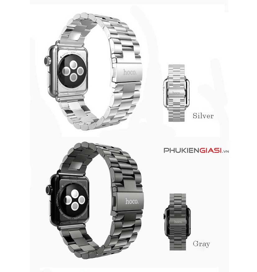 Dây đeo đồng hồ Apple Watch 42mm cao cấp HOCO thép không gỉ