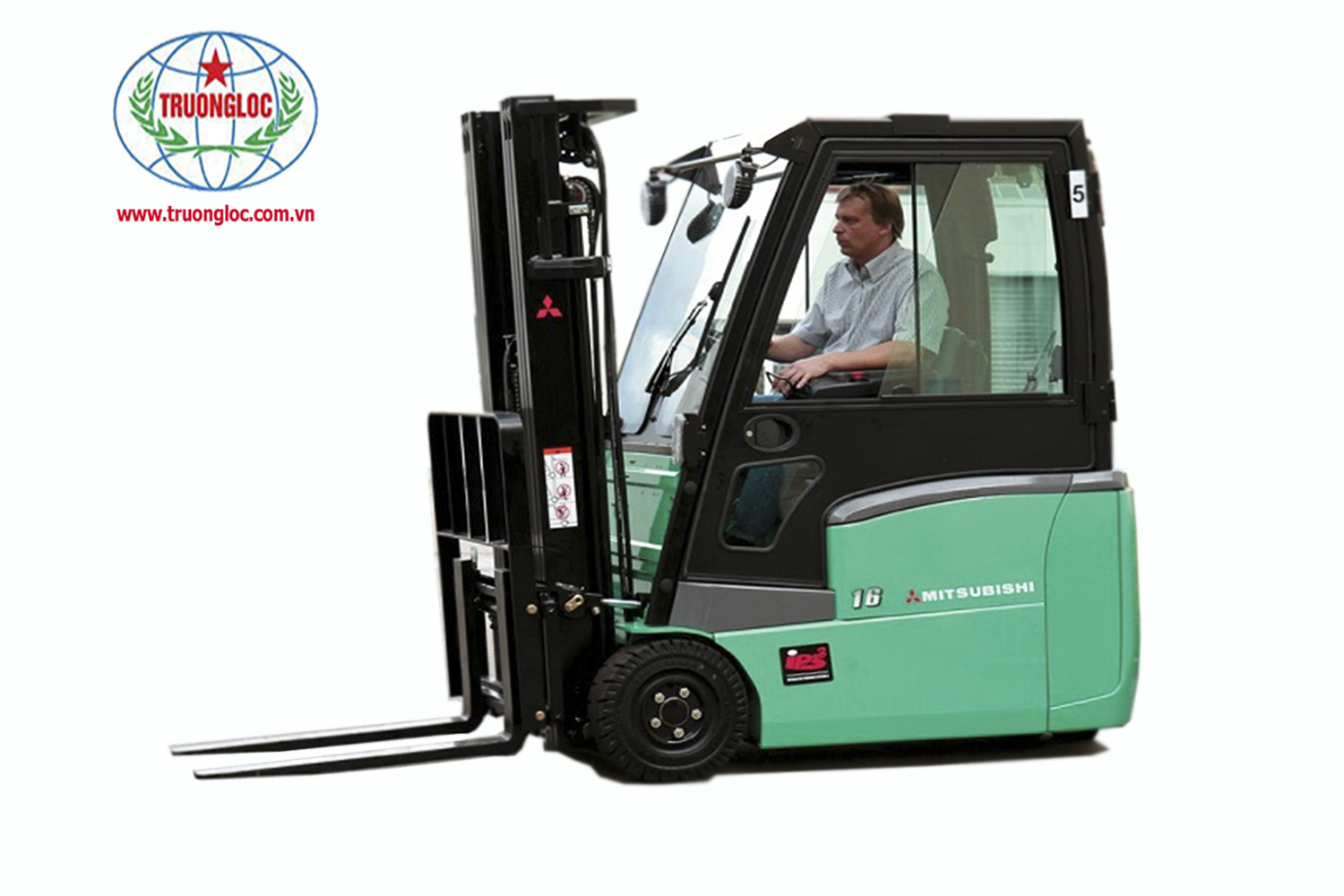 MITSUBISHI ELECTRIC FORKLIFT 3-WHEEL DRIVE SITTING