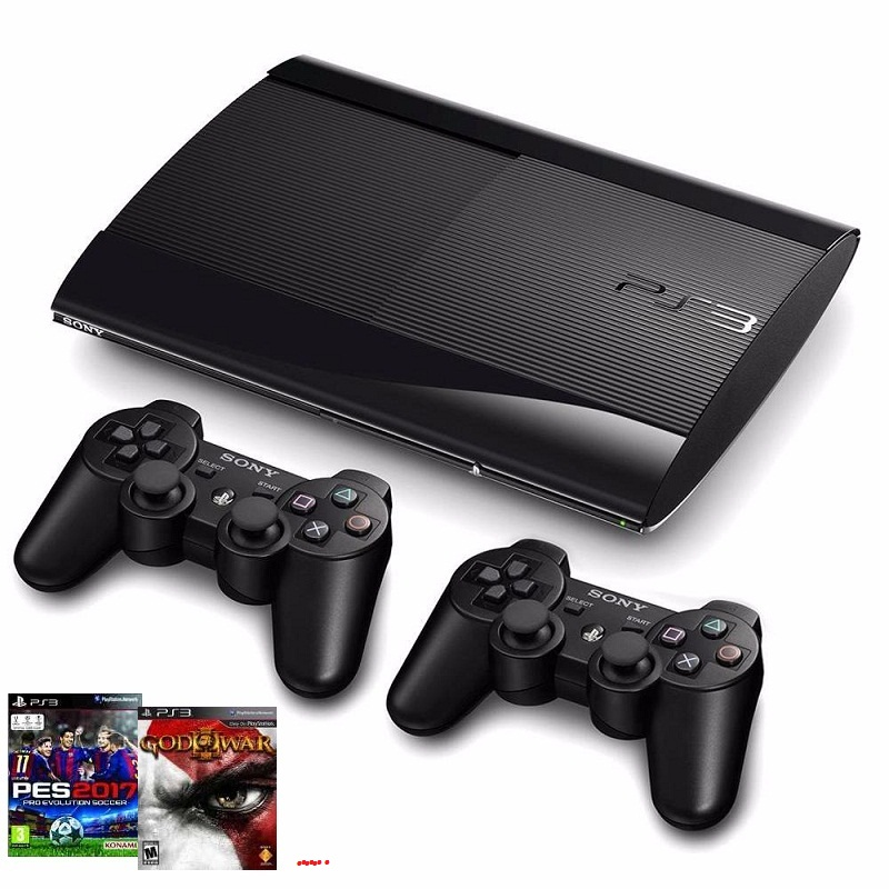 PS3 Super Slim 250GB full box, 2tay ( ĐÃ COP 10 GAMES )