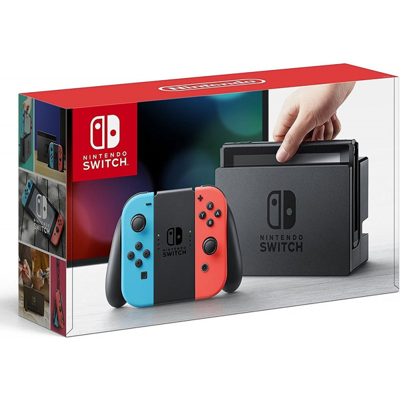 Nintendo Switch with Neon Blue and Neon Red Joy‑Con--TẠM HẾT HÀNG