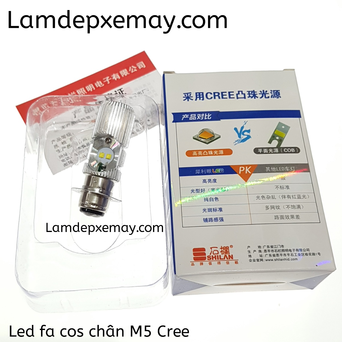 Led chân M5 mini