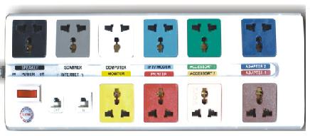 Ổ CẮM LIOA CHỐNG SÉT . 10D-S3-2 LIOA