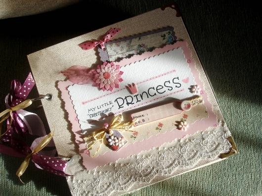 album ảnh handmade cho bé gái