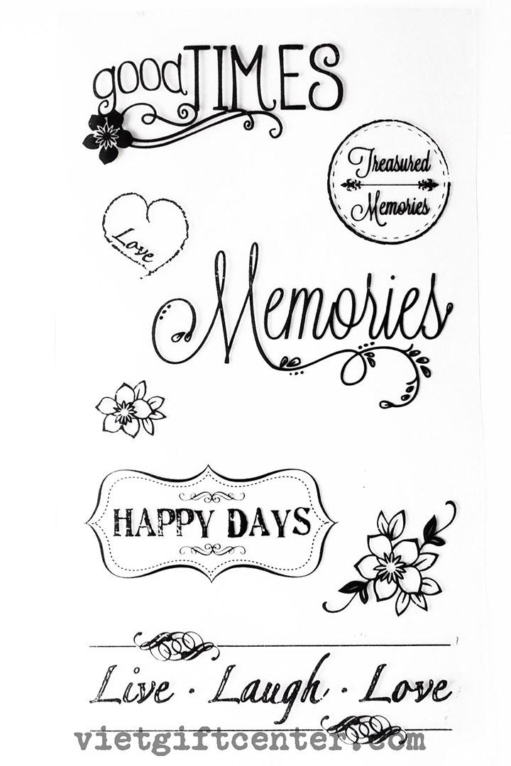 Clear stamp Memories