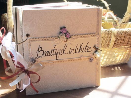 album cưới handmade BEAUTIFUL IN WHITE