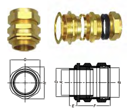 ỐC SIẾT CÁP CW (INDUSTRIAL CABLE GLANDS)