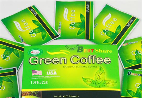 Trà giảm cân Green Coffee chống oxy hóa và loại bỏ gôc tư do