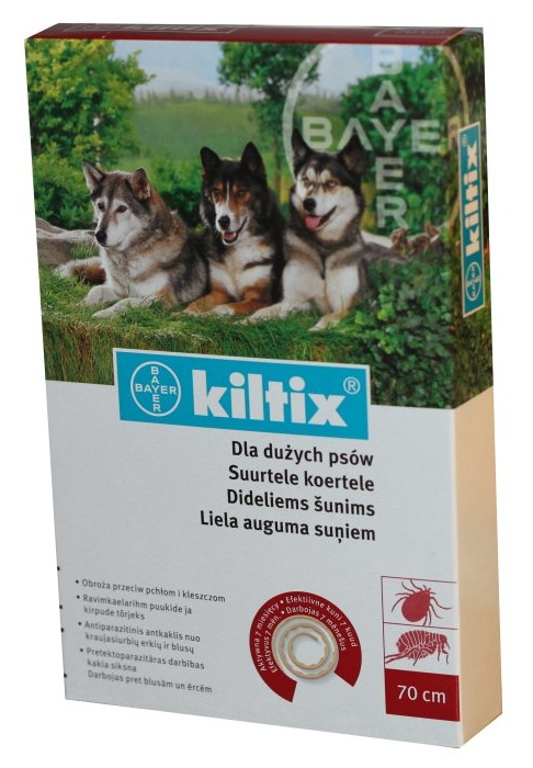 Image result for Kiltix Flea & Tick Collar size L 66cm / Vòng cổ trị ve