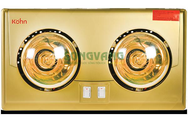 đèn sưởi nhà tắm Braun 2 bóng