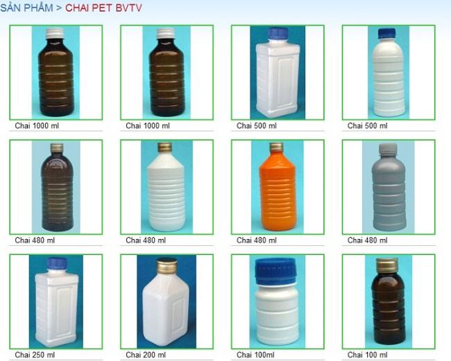 chai nhựa nông dược