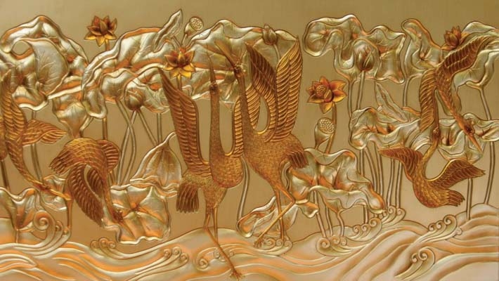 tranh phù điêu composite (phu dieu comporit)