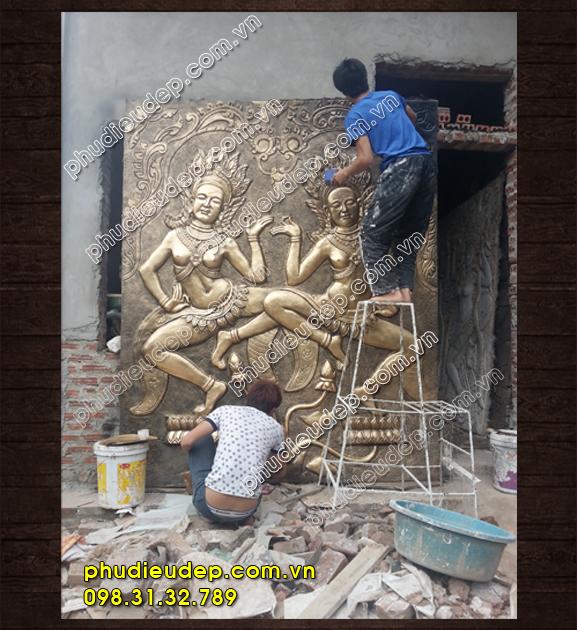 Phù điêu Apsara Ấn Độ