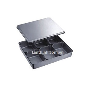 6 ompartment condiment box S-S.size; 330-250-60(H)cm; BCD-6