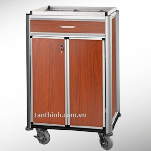 Aluminium beverage restocking cart with door and drawer 3481231DW