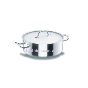 Casserole pot with lid, SS, 10 sizes, 2 - 59 lt