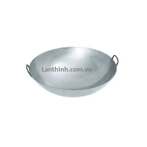 Chinese Wok with 2 handles , SS; 8 size: 39cm- 72cm