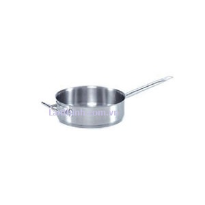 Saute pan with lid, SS, 7 sizes: 1.2 - 7 lt