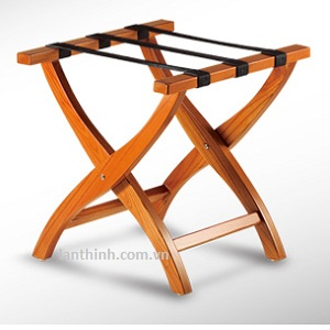Wood luggage rack in Honey color, 3312300