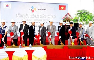 CJ Freshway refrigerated warehouse groundbreaking ceremony
