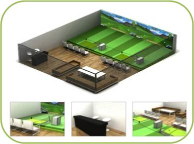 3D Model for Golf Course Practice