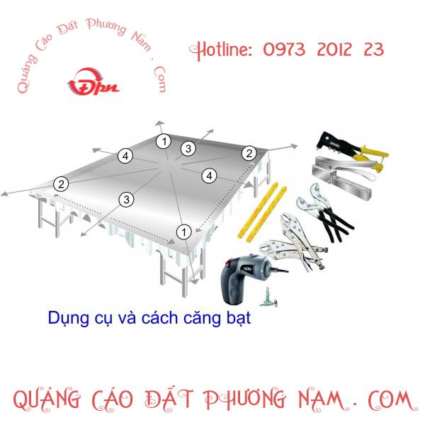 Căng bạt quảng cáo khu vực Hà Nội - HCM