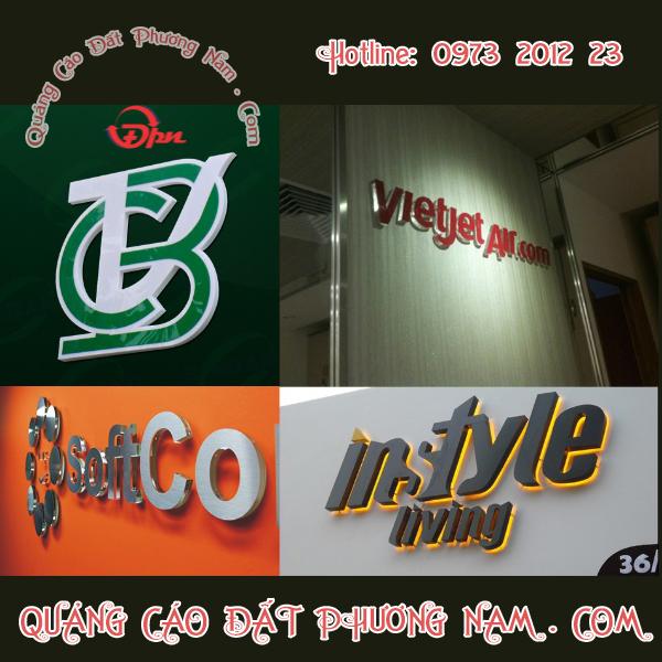 Chữ nỗi Logo thương hiệu 3D