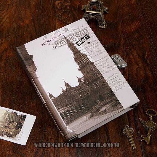 Sổ nhật ký phong cách châu Âu có khóa